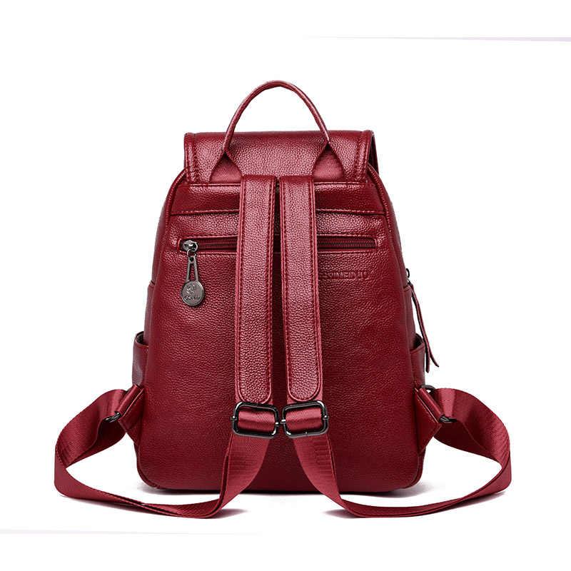 2019 дизайнерский высококачественный Женский кожаный рюкзак школьные рюкзаки для девочек винтажный рюкзак женские рюкзаки Escolar Back Pack Girl