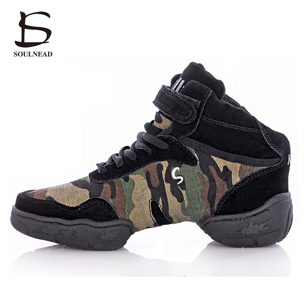 New Camo Brogues Jazz Dance Shoes For Women Soft Bottom Comfortable Breath Modern Dancing Shoes Ladies Gymnastics Sneakers цена