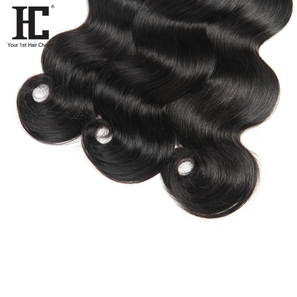 HC 3 Bundles Malaysian Body Wave Human Hair Weave Natural Color Non Remy Hair Extensions Can Be Dyed Free Shipping 8~28