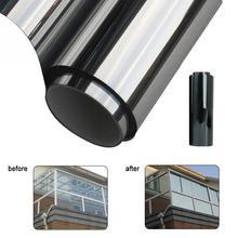 Película de ventana impermeable de 200x50CM, pegatinas de aislamiento de espejo de una vía, plata, rechazo UV, privacidad, tinte de ventana, decoración del hogar