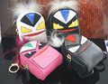 Hot Sale Monster Fend Backpack Coin Purse Wallet Keychain Keyring PU Leaher Fur Multifunction Car Bag Pendant Charm