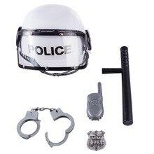 Surwish полицейский тематические игры мальчики игрушка камуфляж шляпа Walkie Talkie полицейская дубинка эмблема комплект наручников для Для детей