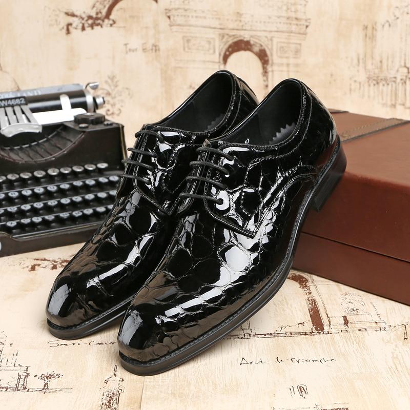 bleu Robe Cuir Marié bleu De Mâle Hommes Noir En Soirée Chaussures Bal Verni Noir Clorisruo Formelle D'affaires Serpentine qUZngxTAwf