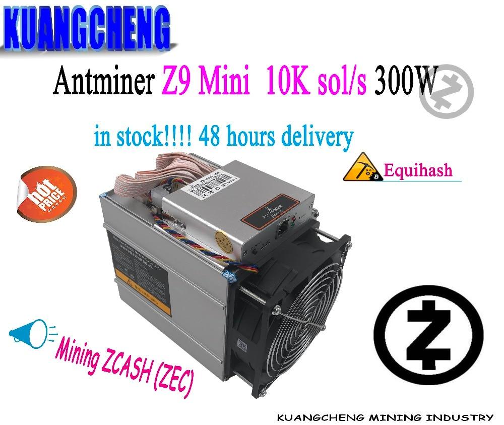 Old 80-90% New In Stock  AntMiner Z9 Mini 10k Sol/s Miner Equihash ZEN ZEC Mining Machine Bitmain Z9 ZCASH Miner BTC Ltc MAINING