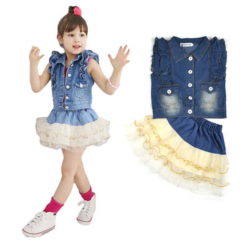 Popular Girls Denim Skirt Suits-Buy Cheap Girls Denim Skirt Suits ...