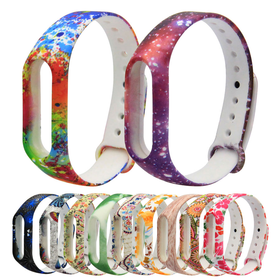 Colorful Silicone Strap For Mi Band 2 3 4 Strap For Miband 3 4 Wristband Replacement Smart Band Wrist Strap Bracelet