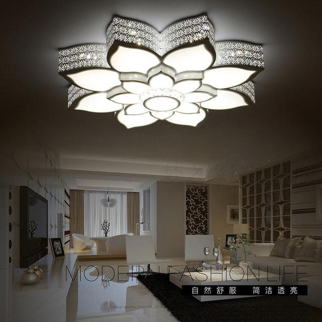 moderne plafonniers en cristal pour chambre salon plafond lampe