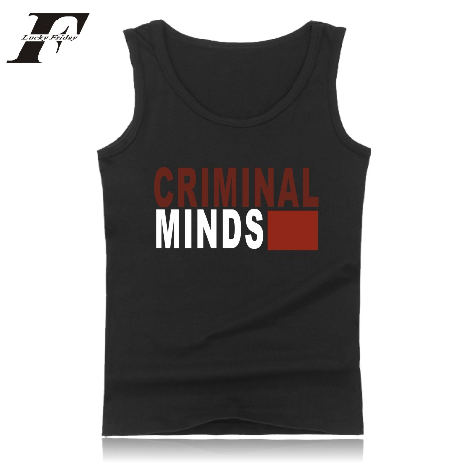 LUCKYFRIDAYF The Criminal Minds Vest Summer Sleeveless