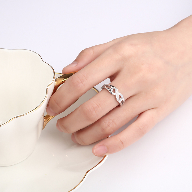 Sterling Silver Infinity Fashion Ring for Women  4