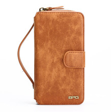 Multifunction Wallet Leather Case For iPhone7 7Plus 6S 6Plus 5S SE Zipper Purse Pouch Phone Cases Lady Women Style Handbag Cover