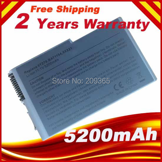 Laptop Battery For Dell Latitude D500 D505 D510 D520 D530 D600 D610 for Inspiron 500m 510m 600m Precision M20 4P894 C1295 3R305 used look like new black laptop notebook keyboard 0pf236 nsk d5k01 9j n6782 k01 for dell latitude d520 d530 us