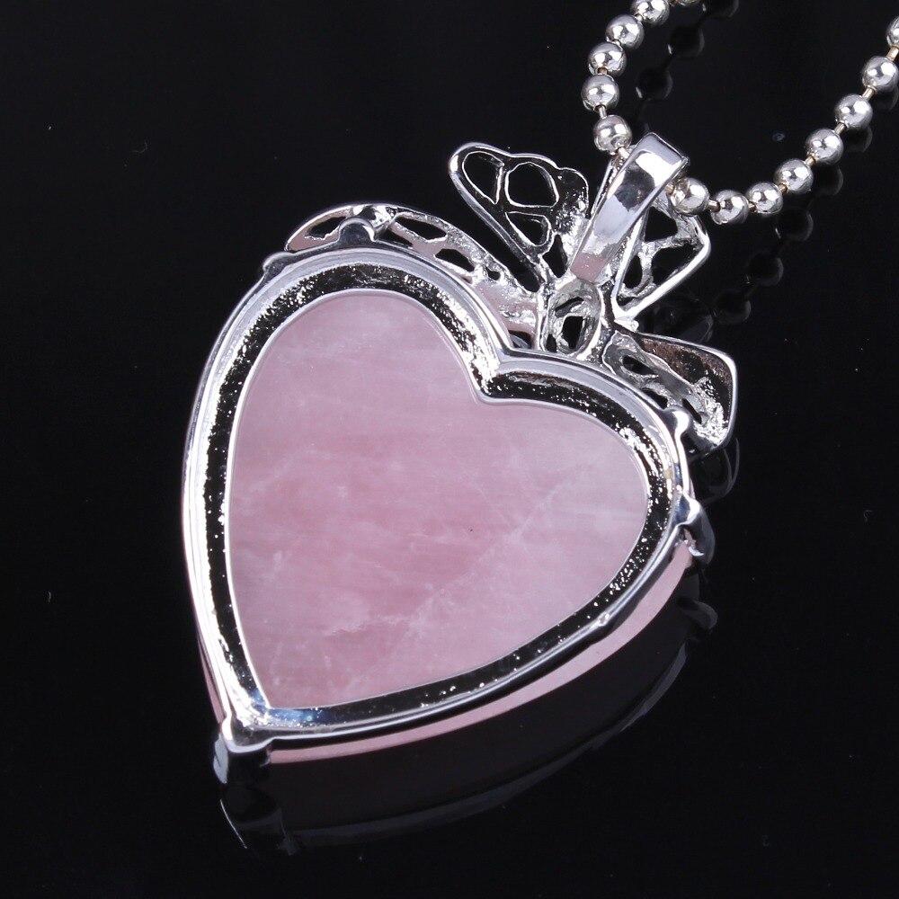 Kraft-beads Romántico Chapado en plata Natural Rose Pink Quartz - Bisutería - foto 2