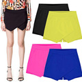 2016 Summer New Fashion Women formal solid Mini Skirt Irregular Candy Color Low Waist  for Hot Sale Free Shipping