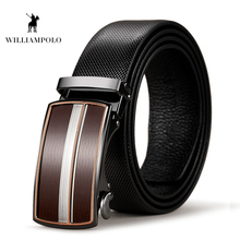 Williampolo Cow Genuine Leather Mens Belt Automatic Buckle 35MM Vintage Style Men PL037P