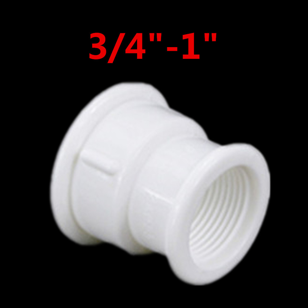 F F 1 2 quot 3 4 quot 1 quot BSP Female Thread water Plastic Pipe Fittings Rounding Nut Rod Connector Coupling PPR in Pneumatic Parts from Home Improvement