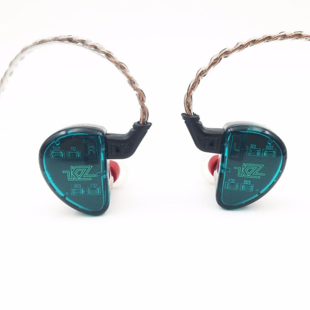KZ AS10 5BA HiFi Stéréo In-Ear Écouteurs Haute Résolution Écouteurs Intra-auriculaires avec 0.75mm 2 pin Câble Cinq Armature Équilibrée pilote
