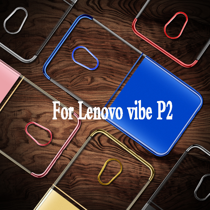 Forlenovo p2 case silicone P2c72 P2a42 luxury funda Plating mobile phone bag for lenovo vibe p2 case p2 cover soft tpu 5.5 armor
