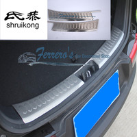 2pcs/lot for 2011 2012 2014 2015 2016 KIA Sportage R Stainless Steel back rear trunk inside Protection decoration cover sequins