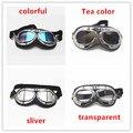 1 par 4 cores Capacete lente anti-vento para o Couro Para Moto snowmobile Da Motocicleta Óculos de Proteção Motociclista Piloto Do Vintage óculos de proteção ATV Goggle