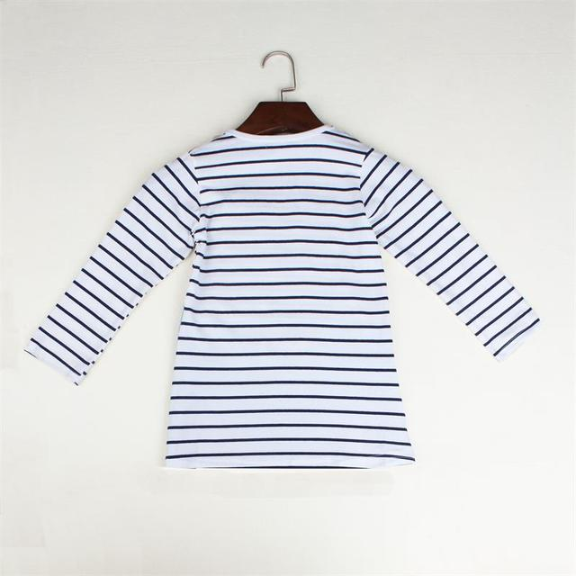 Cute Mouse Girl's Striped Patchwork Dress 5