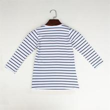 Toddler Girls Striped Character Denim Dress