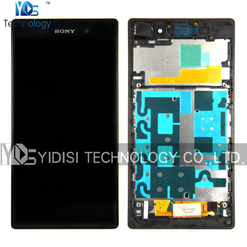 ФОТО 5pcs/lot Original Assembly LCD With Digitizer For Sony Xperia Z1 L39H C6902 C6903 C6906 LCD Touch Screen Display With Frame