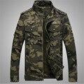 М-4XL Новый Весна Осень Военная куртка мужчины Камуфляж куртка jaqueta мужские куртки и пальто мужская одежда армия Хлопок 2016 пальто