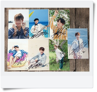 signed BTS autographed photo 6 inches SUMMER 7 photos set  free shipping K-POP 092017