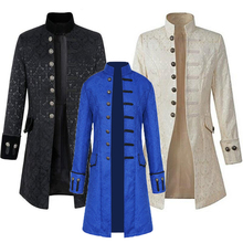 Middle Ages Prince Punk Steampunk Jacket Long Sleeve retro mens uniform Costumes Coat Retro Halloween cosplay