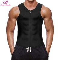 Lover Beauty Men S Waist Trainer Vest For Weight Loss Zipper Waist Trainer Neoprene Sauna Croset