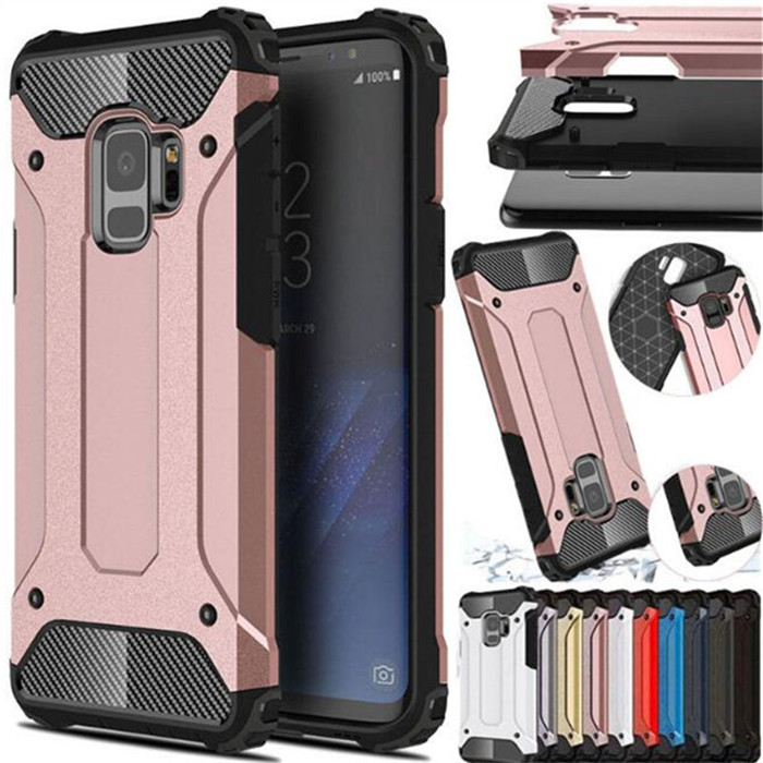 For Samsung Galaxy S5 S6 EDGE S7 S8 S9 S10 Plus S10E E Note 4 5 8 9 Hybrid Armor Cover For J4 J6 J8 A6 A8 Plus A7 A9 2018 Case(China)