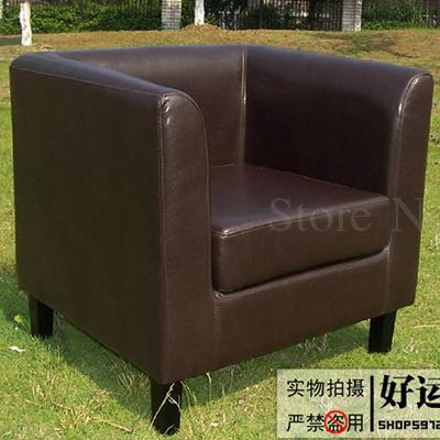 Тканевая одноместная Софа стул Европейская маленькая квартира отель кафе интернет кафе карточка сиденья PU диван - Цвет: VIP 7