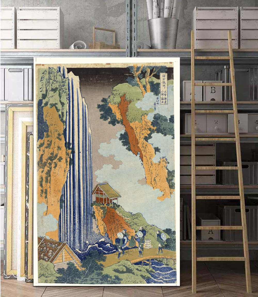 US $5 77 32% OFF Famous Classic Japanese Ukiyoe Posters Sea Wave Landscape  Sexy Girl Vintage Wall Art Picture Home Decor Canvas Painting No Frame-in