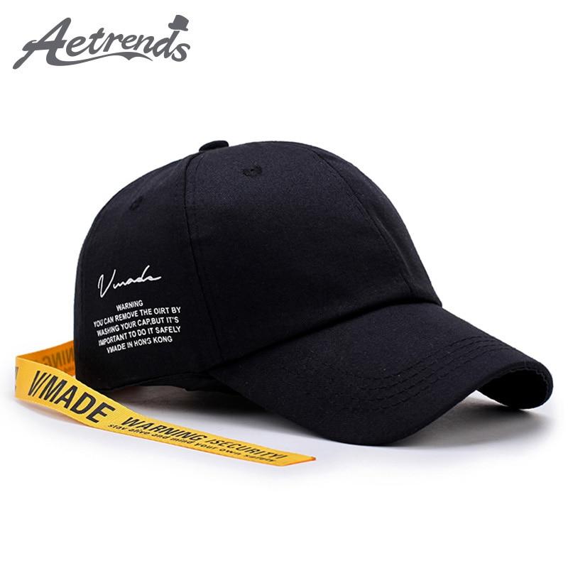 [AETRENDS] 2017 New Black Baseball Cap with Line Men Women Snapback Cap Racing Hat bone masculino Z-5883