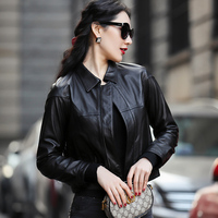 Ptslan 2019 Women's Genuine Leather Jacket Genuine Natural Lambskin Jackets Soft
