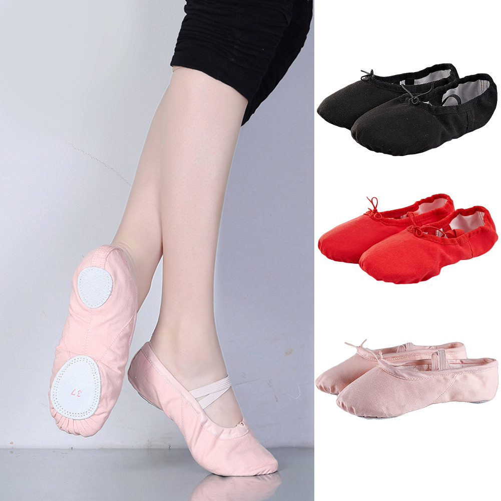 лучшая цена 2018 New Summer Pink Canvas Ballet Shoes For Women Dance Shoes Children Girls Professional Ballet Slippers Hot sale