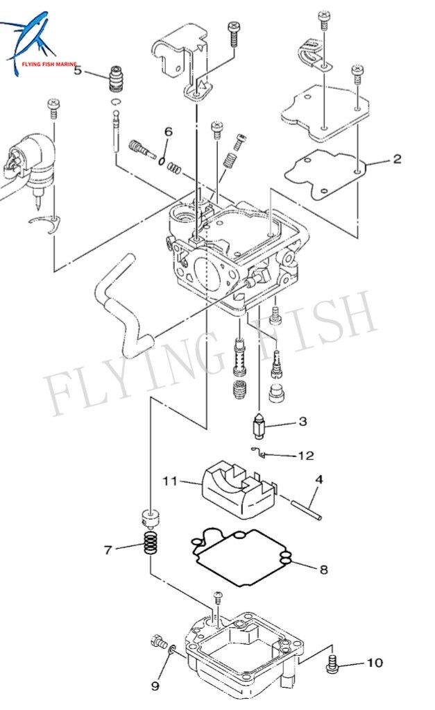 kit de reparo carburador motor 04
