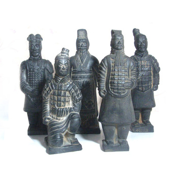 China antique imitation soldier sculpture New Terracotta crafts ornaments Qin Terracotta Warriors and Horses handmade souvenir