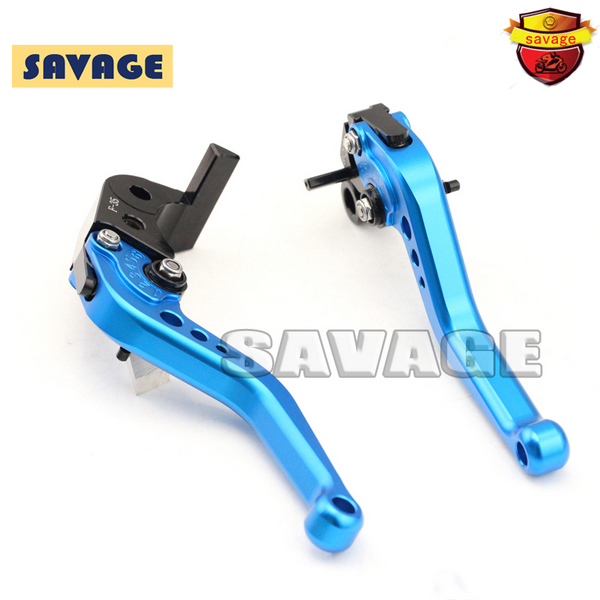 ФОТО For YAMAHA FZ-6R XJ6 Diversion 09-15 Motorcycle Accessories CNC Billet Aluminum Short Brake Clutch Levers Blue