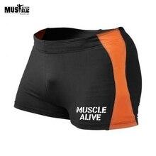 Sportswear Men Bodybuilding Shorts Fitness Spandex Workout 4 Inseam Compression Male Sexy Skinny Elastic Waist Print