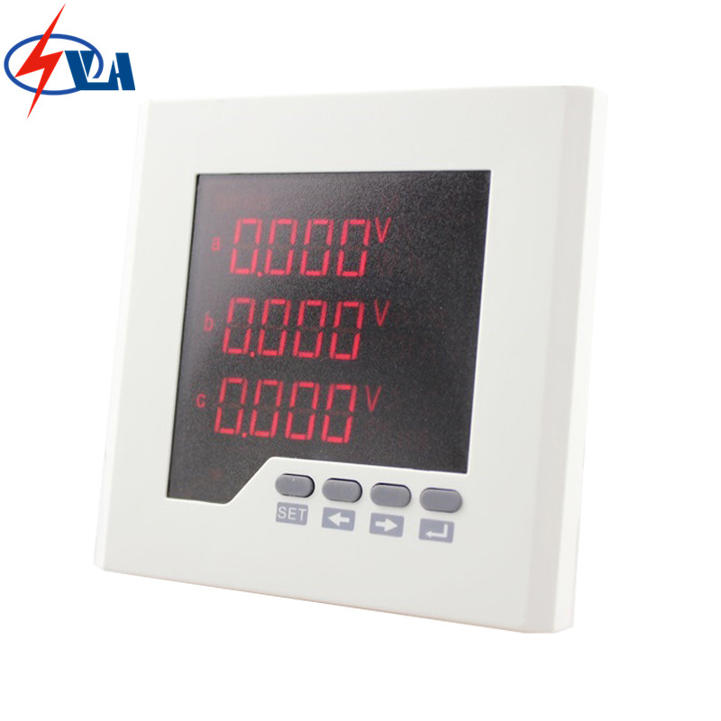 3D2  ac LED digital display 3 phase multifunction meter with panel size 120*120mm 3uif23 frame size 120 120mm 3 phase ac led digital combined meter for distribution box