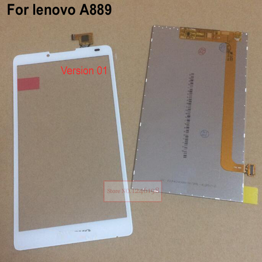 TOP Quality Black White NEW Touch Screen Panel Digitizer + LCD Display For Lenovo A889 Phone replacement parts free shipping