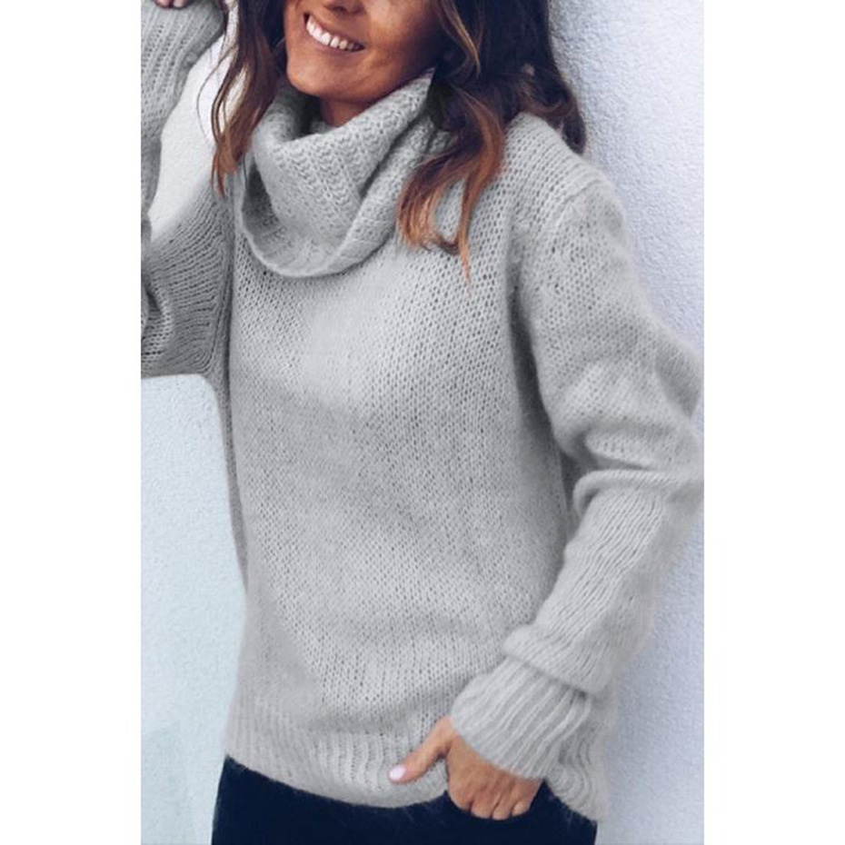 8da12cfb881 Womens Sweaters 2018 Winter Tops Turtleneck Sweater Women Thin Pullover  Jumper Knitted Sweater Pull Femme Hiver Truien Dames New