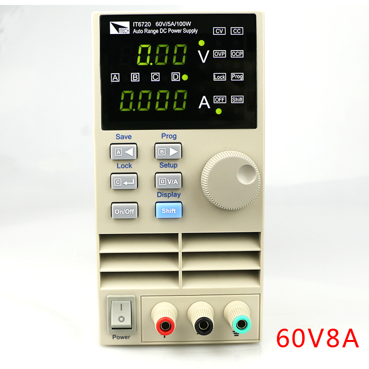 IT6721 high precision Adjustable Digital DC Power Supply 10mV/1mA 60V/8A for scientific research service Laboratory kuaiqu high precision adjustable digital dc power supply 60v 5a for for mobile phone repair laboratory equipment maintenance