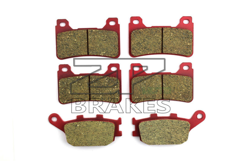 Brake Pads Carbon Ceramic Front + Rear For CBR 600 RR 2005-2006 OEM New High Quality ZPMOTO-BRAKES front rear cb400 vtec 1999 2000 carbon ceramic road brake pads high quality