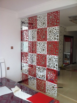 Room Dividers Screen Partition Entranceway Door Hanging Screen Cutout Grilles Room Dividers Stickers Tv Wall Stickers 4pcs/lot