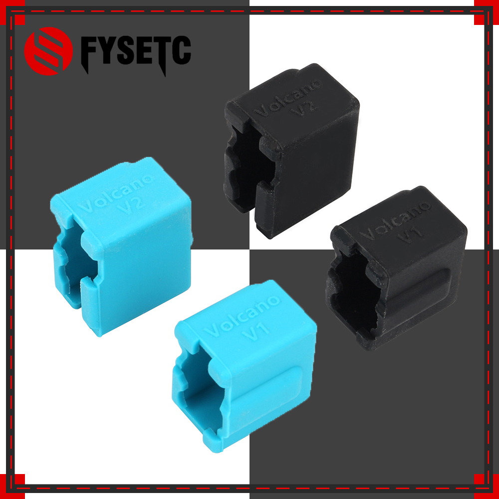 Silicone Socks of Volcano V2 Heater Block 24x20x11.5mm Silicone Insulation Sock for PT100 cartridge SILICONE HEATER BLOCK COVERSilicone Socks of Volcano V2 Heater Block 24x20x11.5mm Silicone Insulation Sock for PT100 cartridge SILICONE HEATER BLOCK COVER
