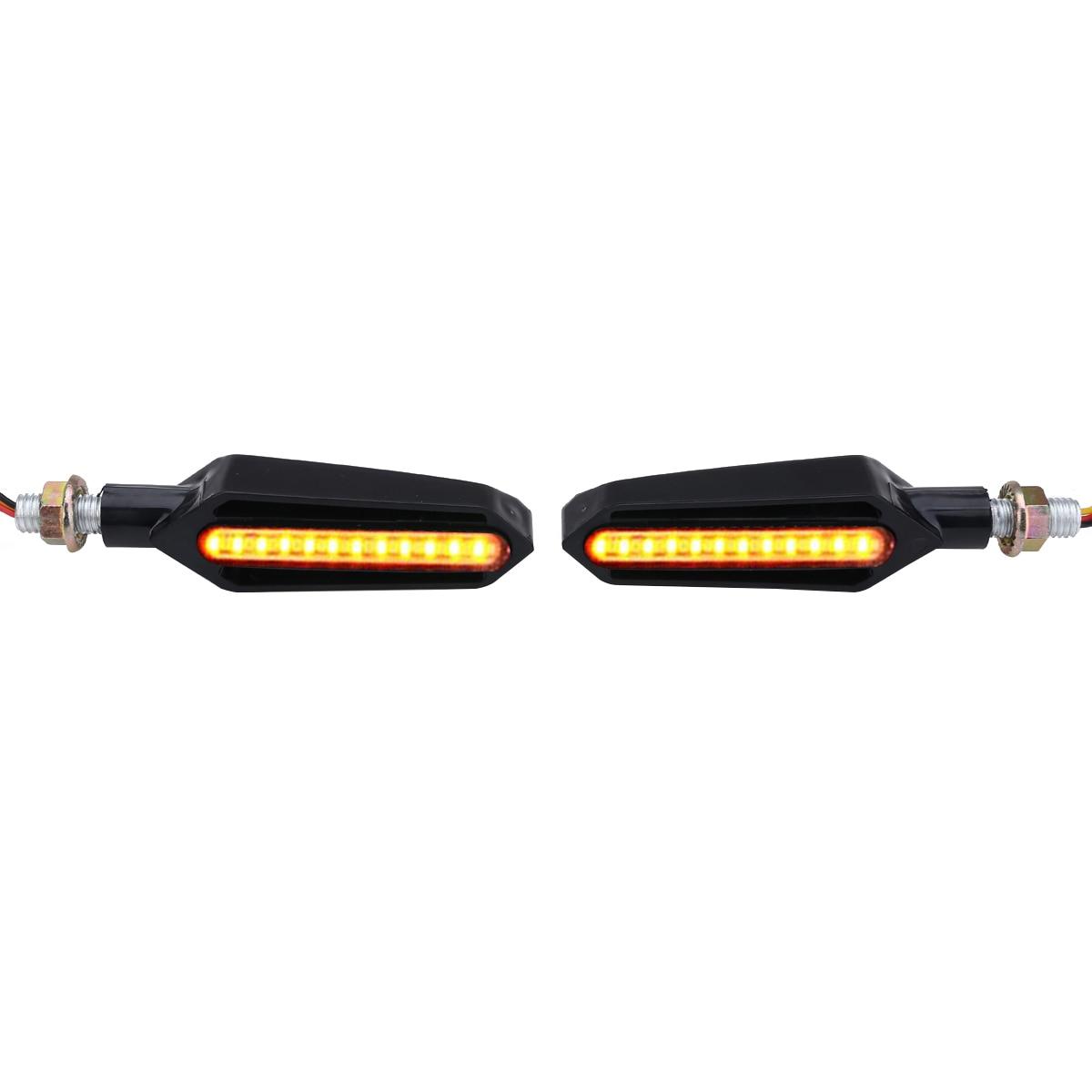 High Quality 1Pair 24LED Motorcycle DRL Water Flowing Turn Signal Indicator Brake Lights Blinker Flasher Lamp 12V DC Waterproof