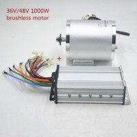 Electric Motor 36V/48V 1000W DC Brushless bldc Mid Drive Conversion motor Kit for VAE Quad Tricycle Car/Scooter/E Bike /Moto