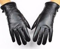 Leder handschuhe weibliche winter kalt warm dicke schafspelz futter hypertrophie stil damen schaffell handschuhe